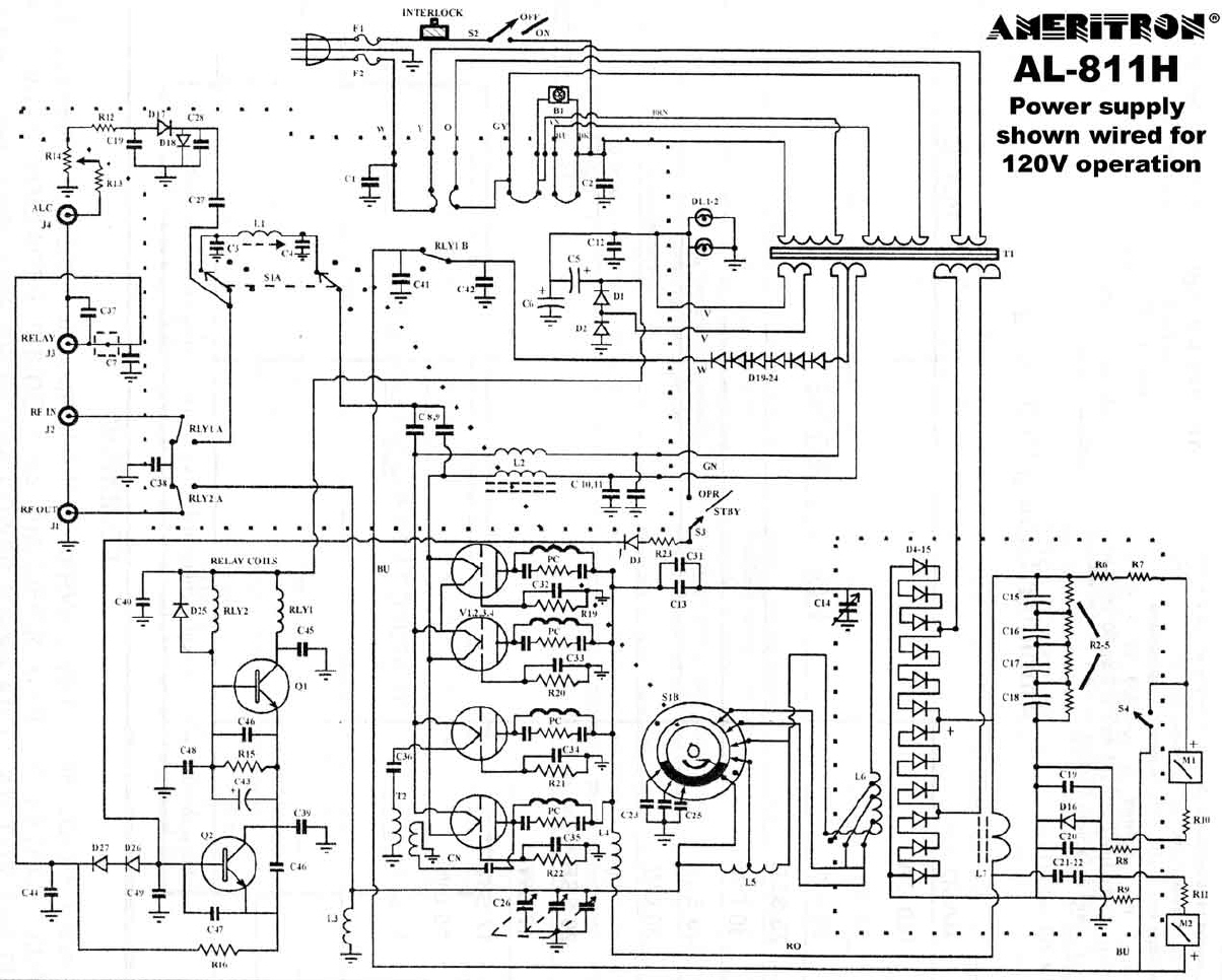 Ameral H on Ameritron 811h Schematic